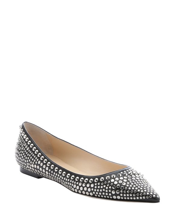 Jimmy Choo Leather Studded Flats sale largest supplier store online Z3q4n