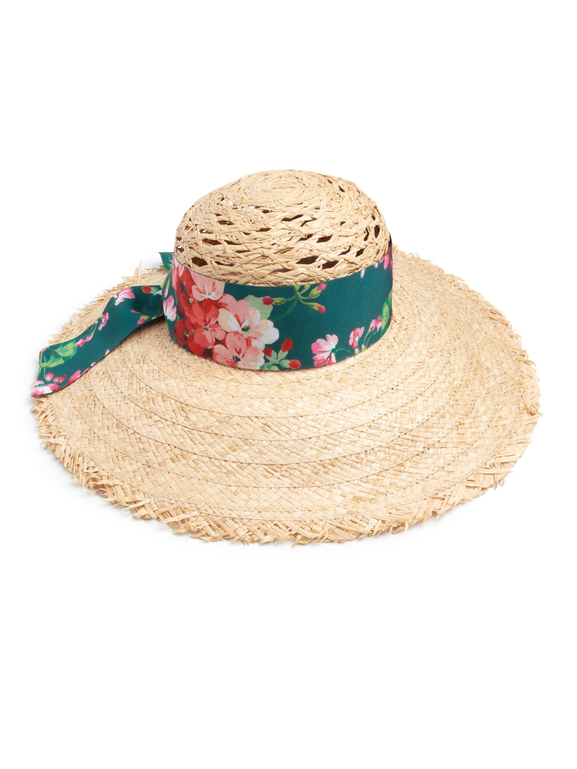 Lyst - Gucci Straw Sun Hat in Green 97619a06f6b
