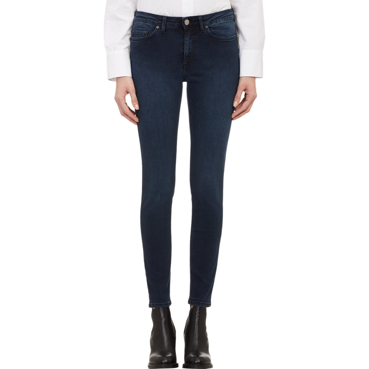 acne studios skin 5 skinny jeans in blue lyst. Black Bedroom Furniture Sets. Home Design Ideas