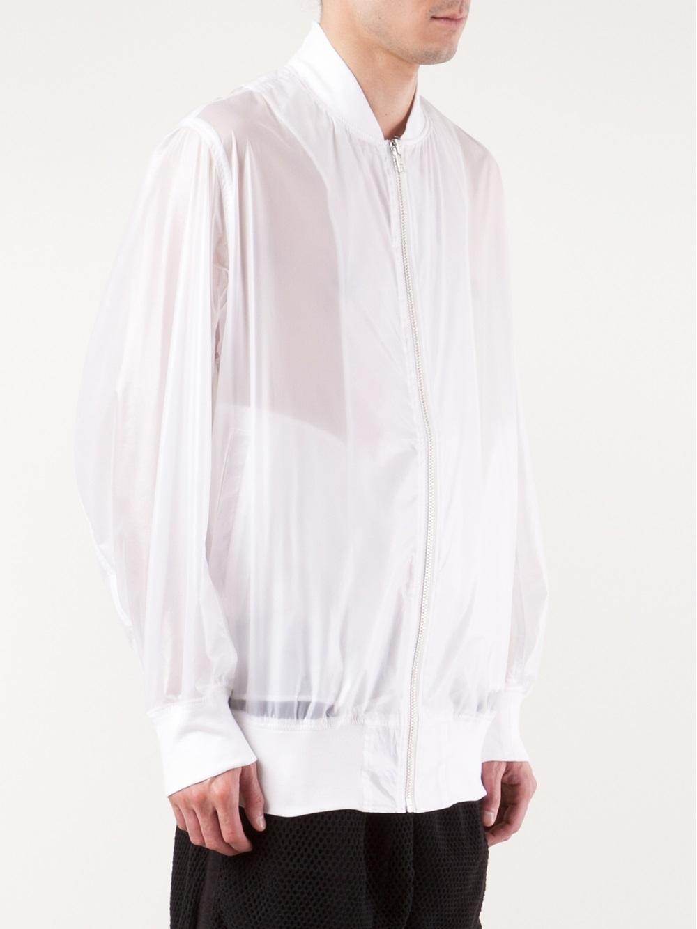 Ktz Transparent Bomber Jacket in White for Men | Lyst