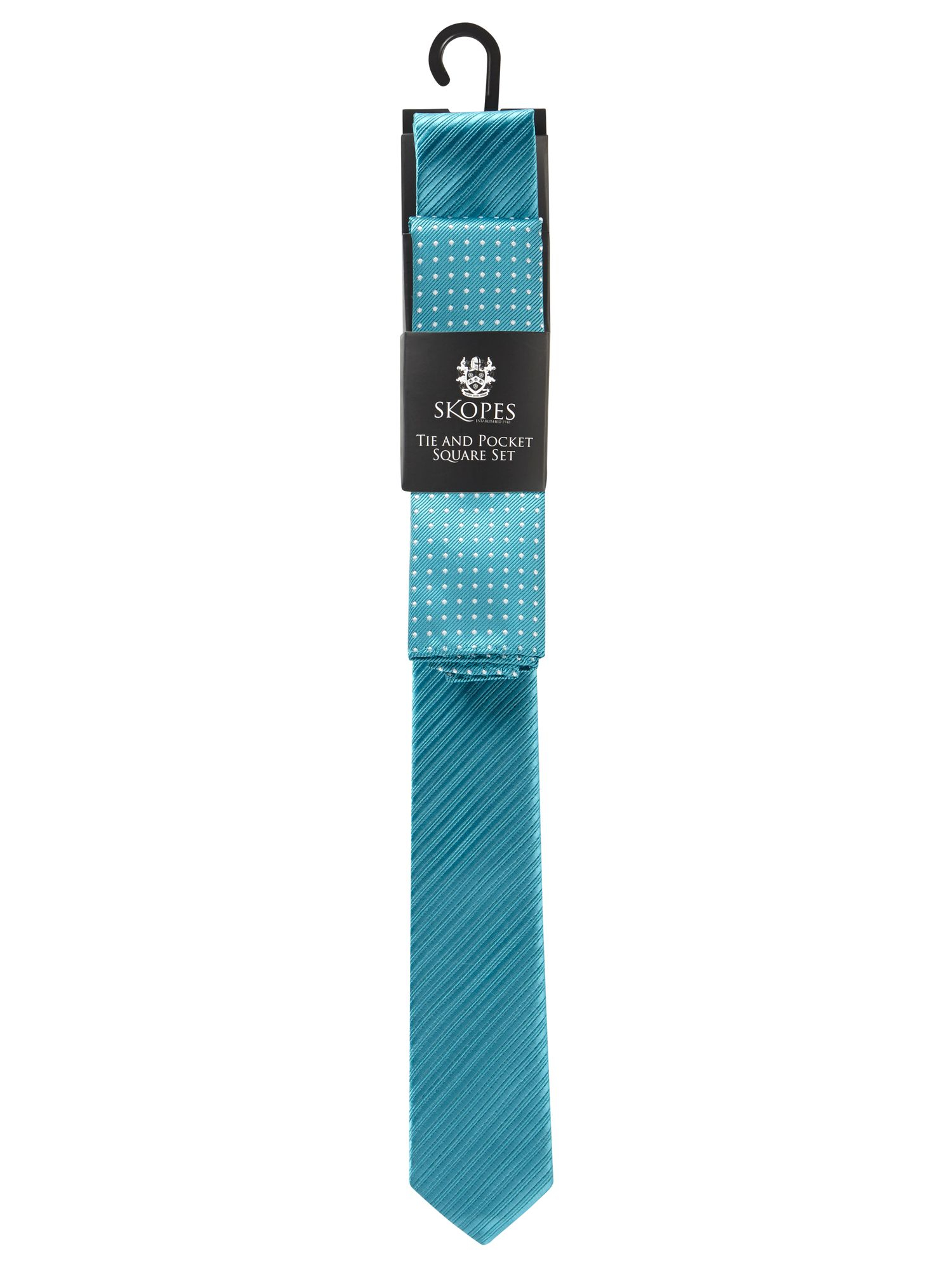 skopes tie and pocket square in blue for lyst