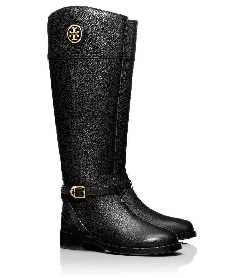 Lyst Tory Burch Teresa Riding Boot In Black