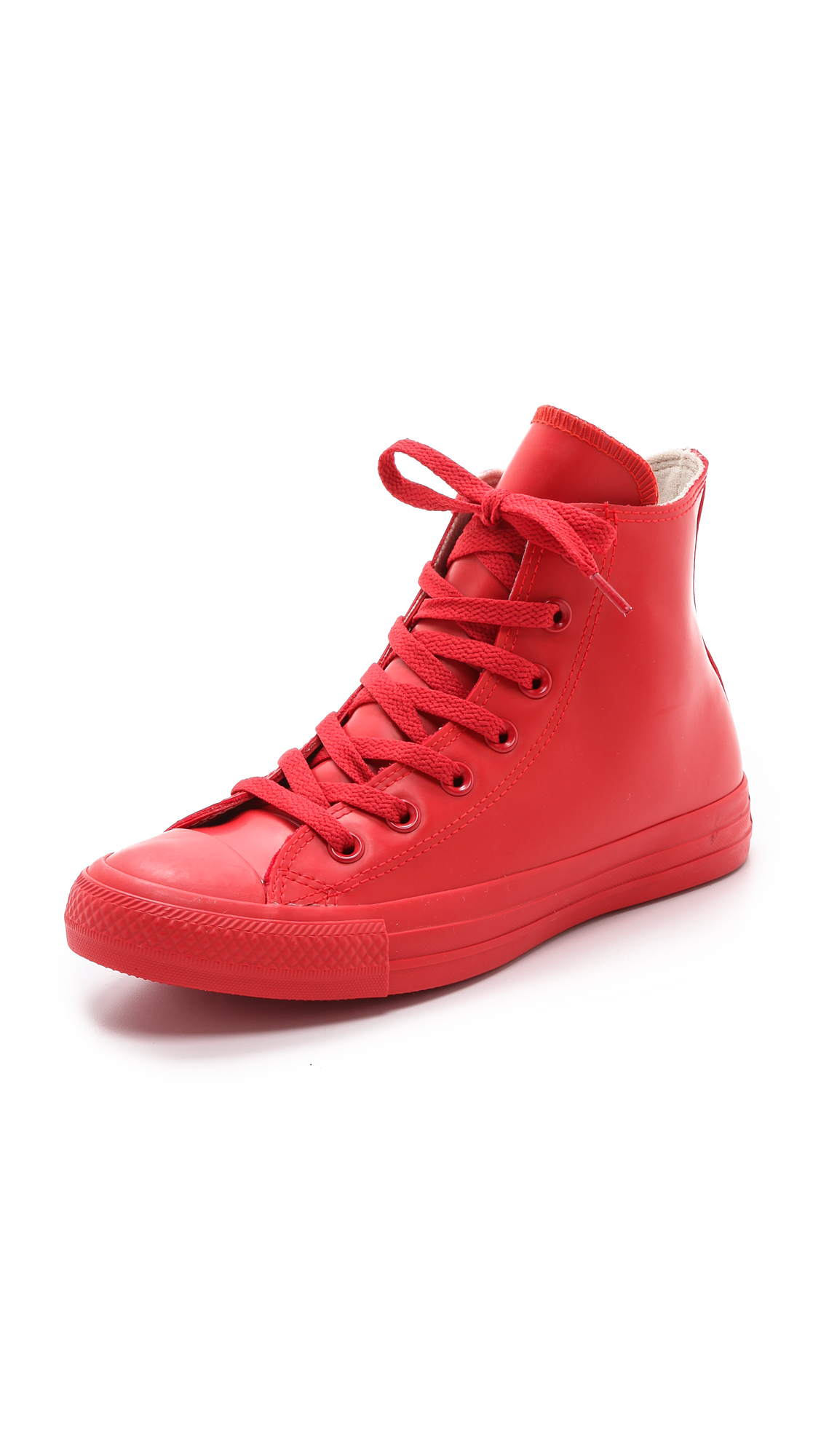 Women's Rubber Coated Chuck Taylor All Star Sneakers Red