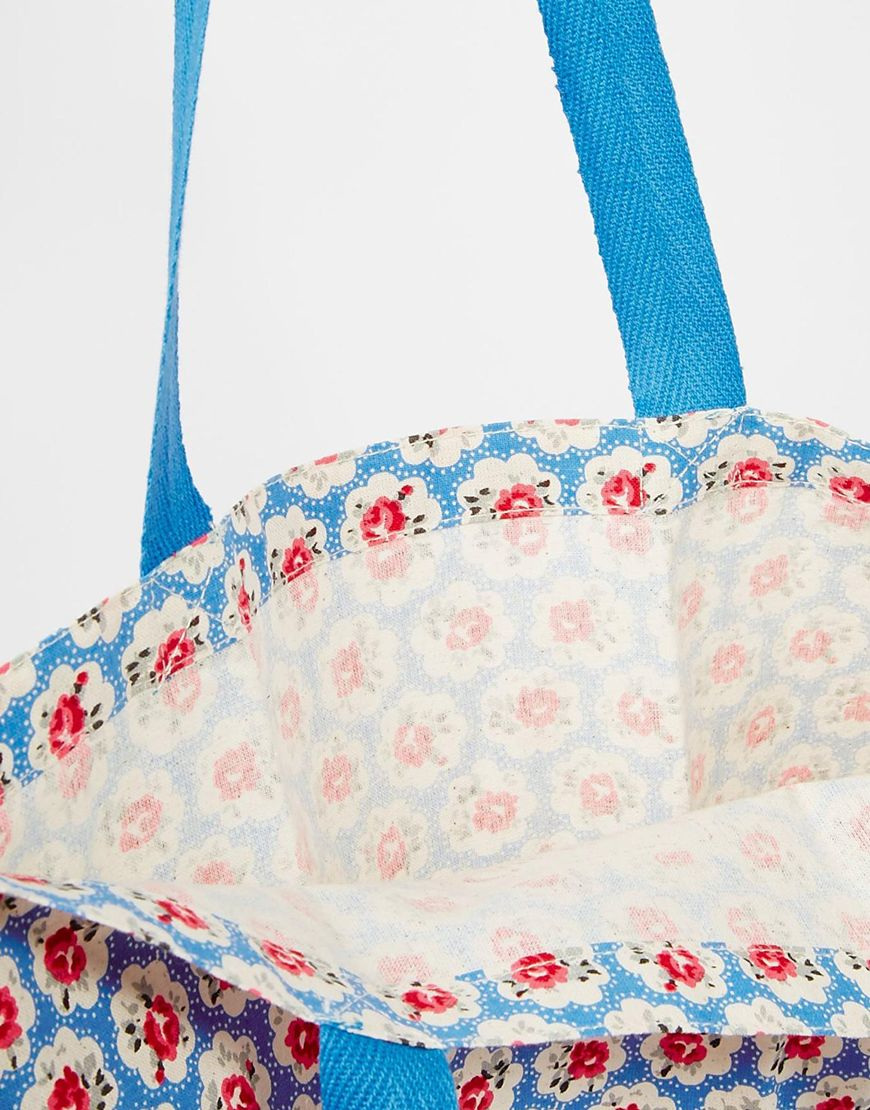 Cath kidston Set Of Three Cotton Book Bags in Blue | Lyst