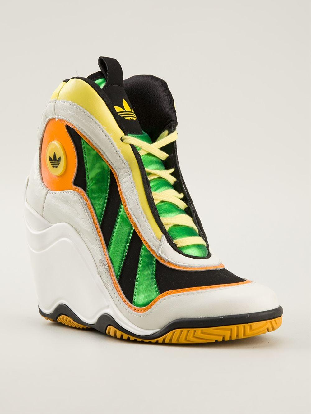 Multicolored Adidas Stripe Shoes