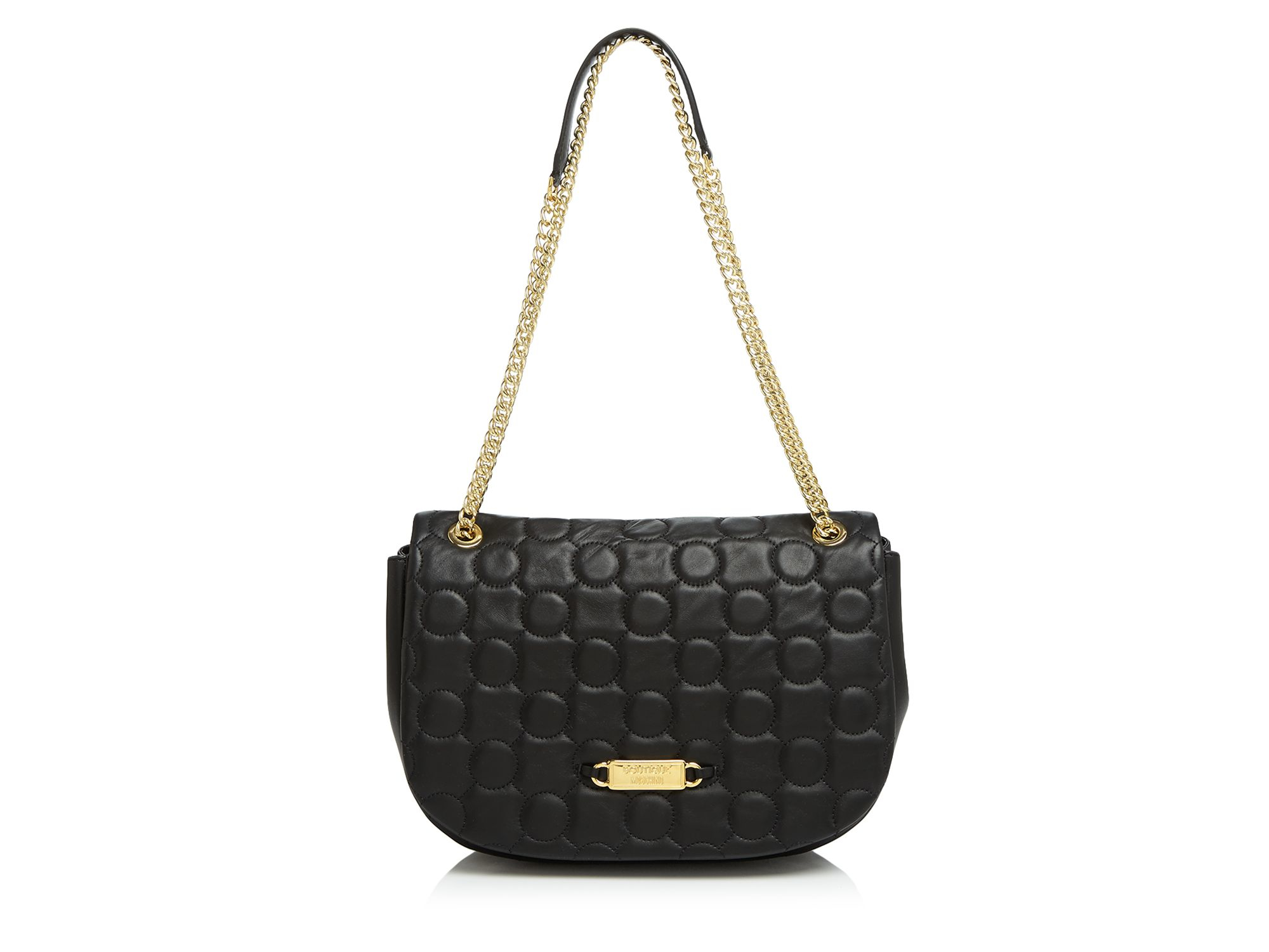 Boutique moschino Shoulder Bag - Quilted Medium Gold Chain in ...