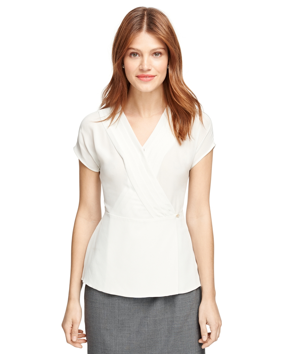 Brooks Brothers White Blouse 87