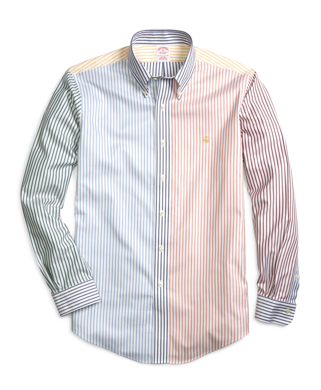 Brooks brothers non iron slim fit multi stripe sport shirt for Brooks brothers sports shirts