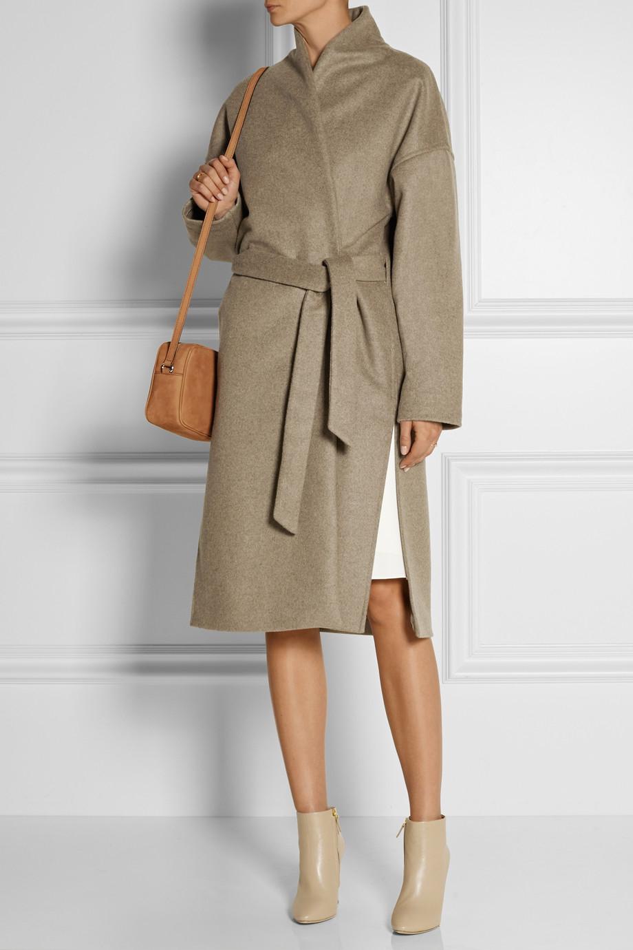 Lyst Tot 234 Me Chelsea Wool Blend Felt Wrap Coat In Natural
