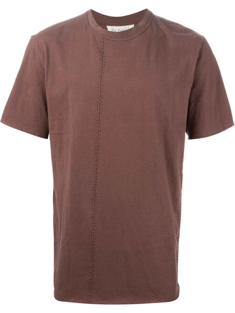 by walid embroidered loose fit t shirt in brown for men lyst
