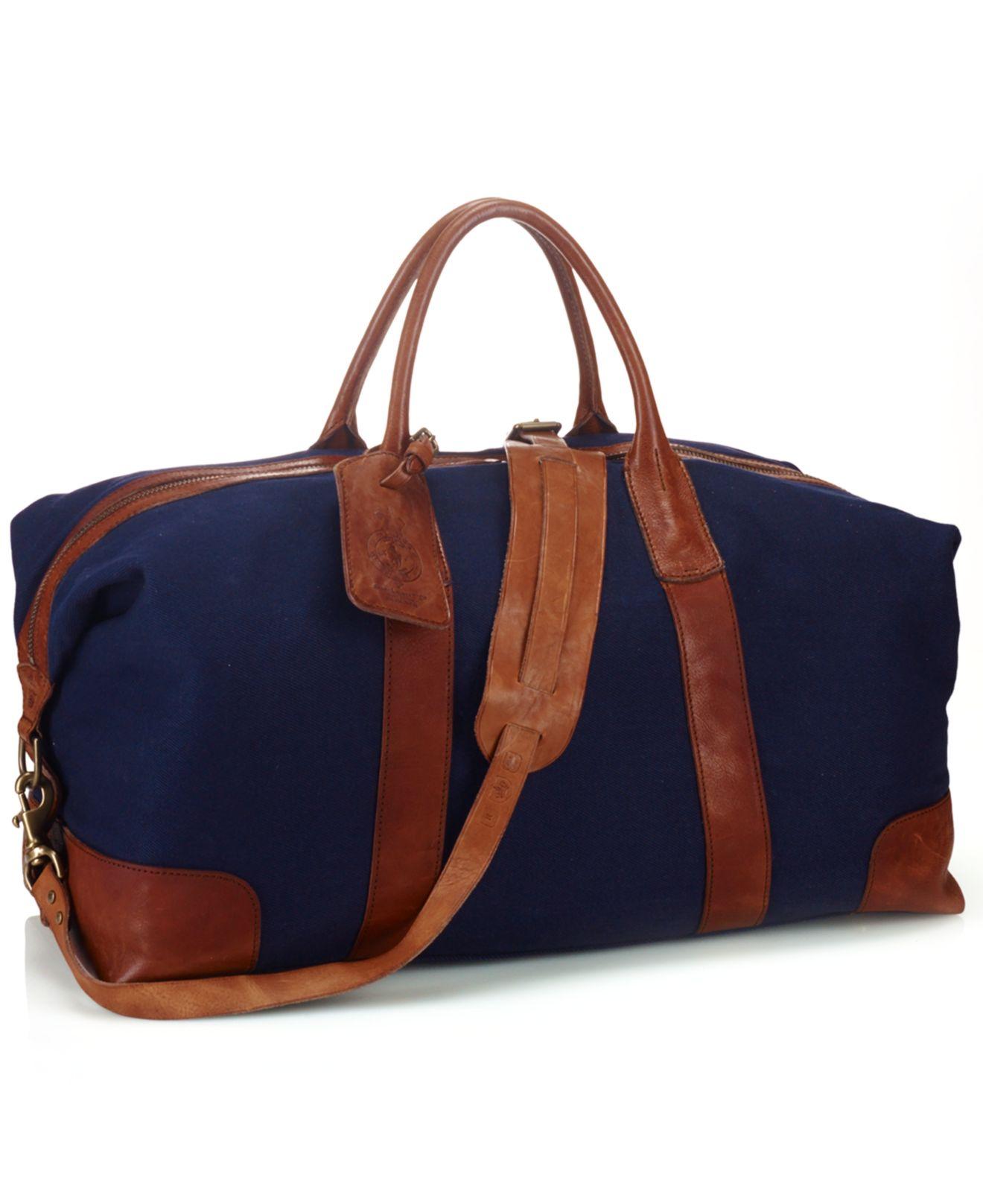 db93590db935 Lyst - Polo Ralph Lauren Canvas Duffel Bag in Blue for Men