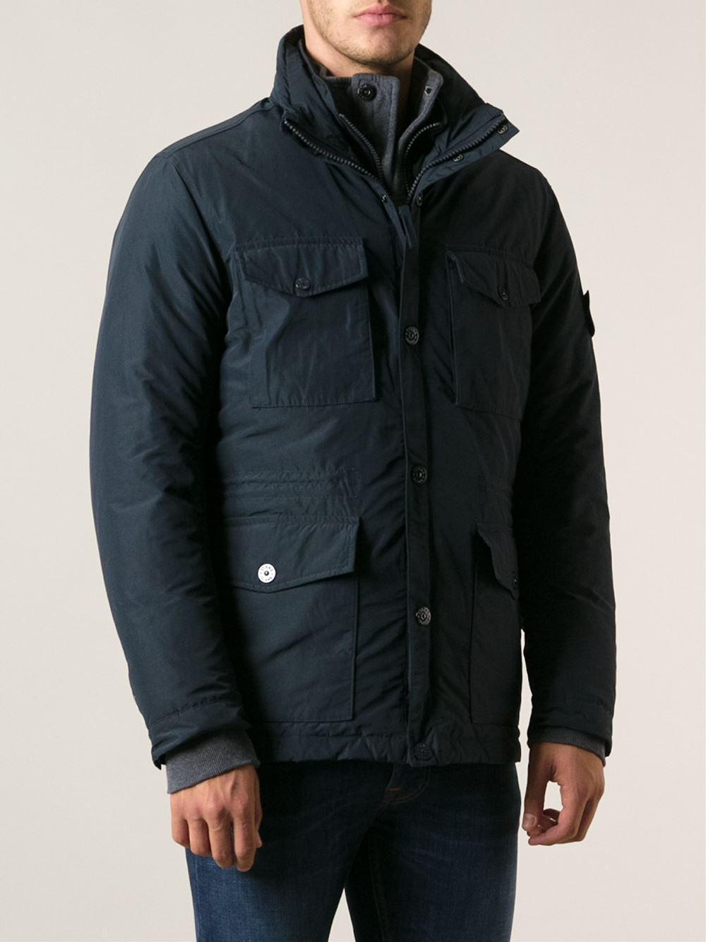 Stone Island Micro Reps Jacket Blue