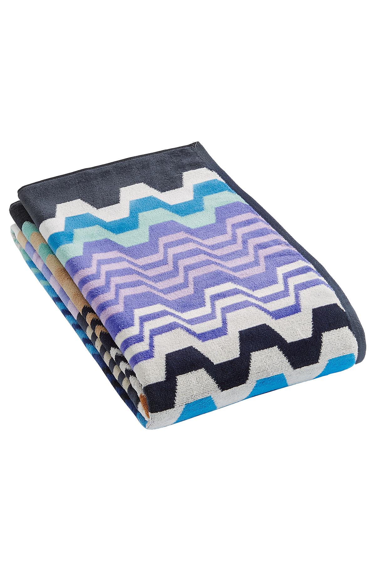 lyst missoni cotton beach towel multicolor. Black Bedroom Furniture Sets. Home Design Ideas