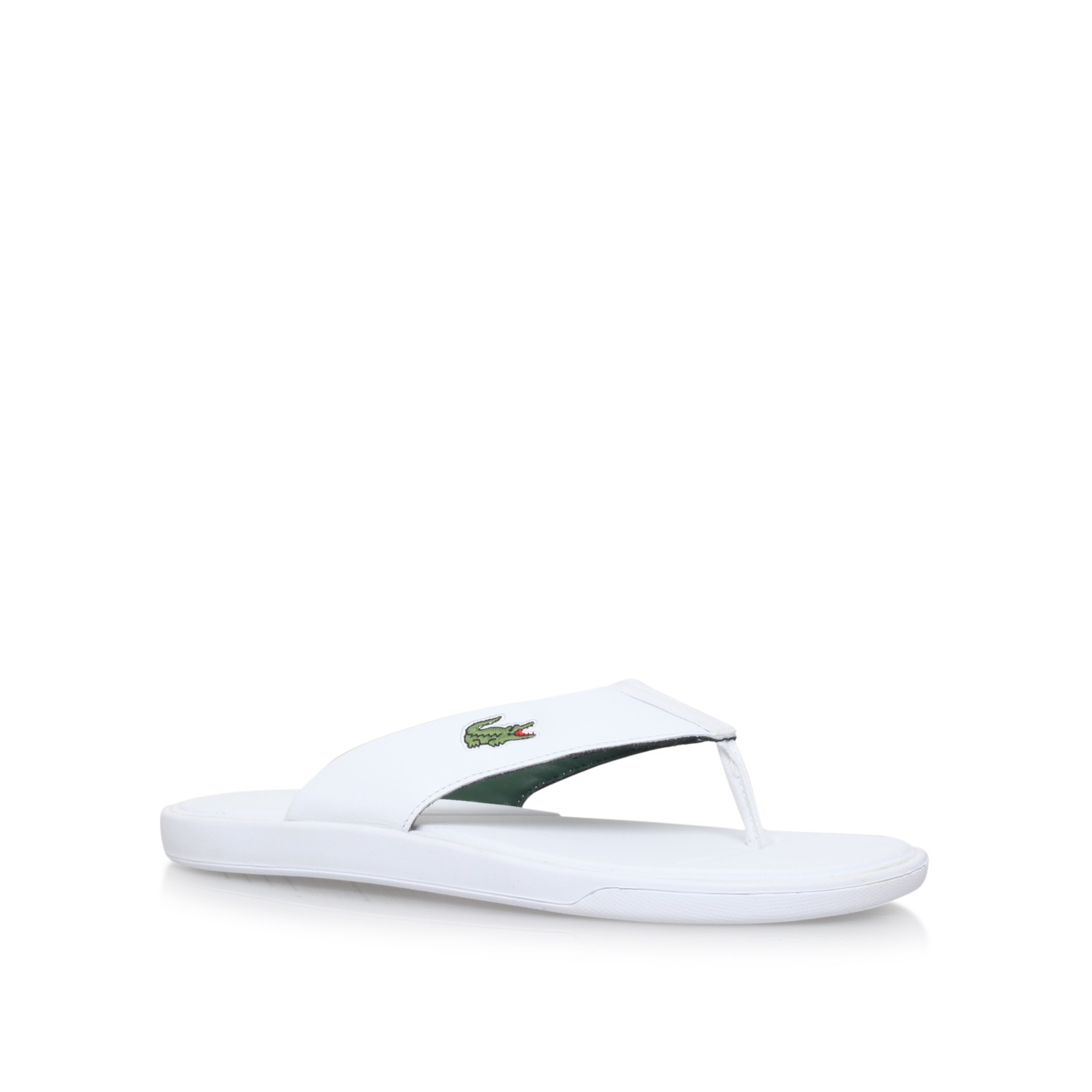 47d3dab2d10f7 Lacoste L30 Flip Flop in White for Men - Lyst