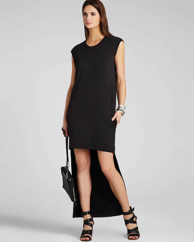 Bcbgmaxazria bcbg max azria sweatshirt dress laurynn high low in black