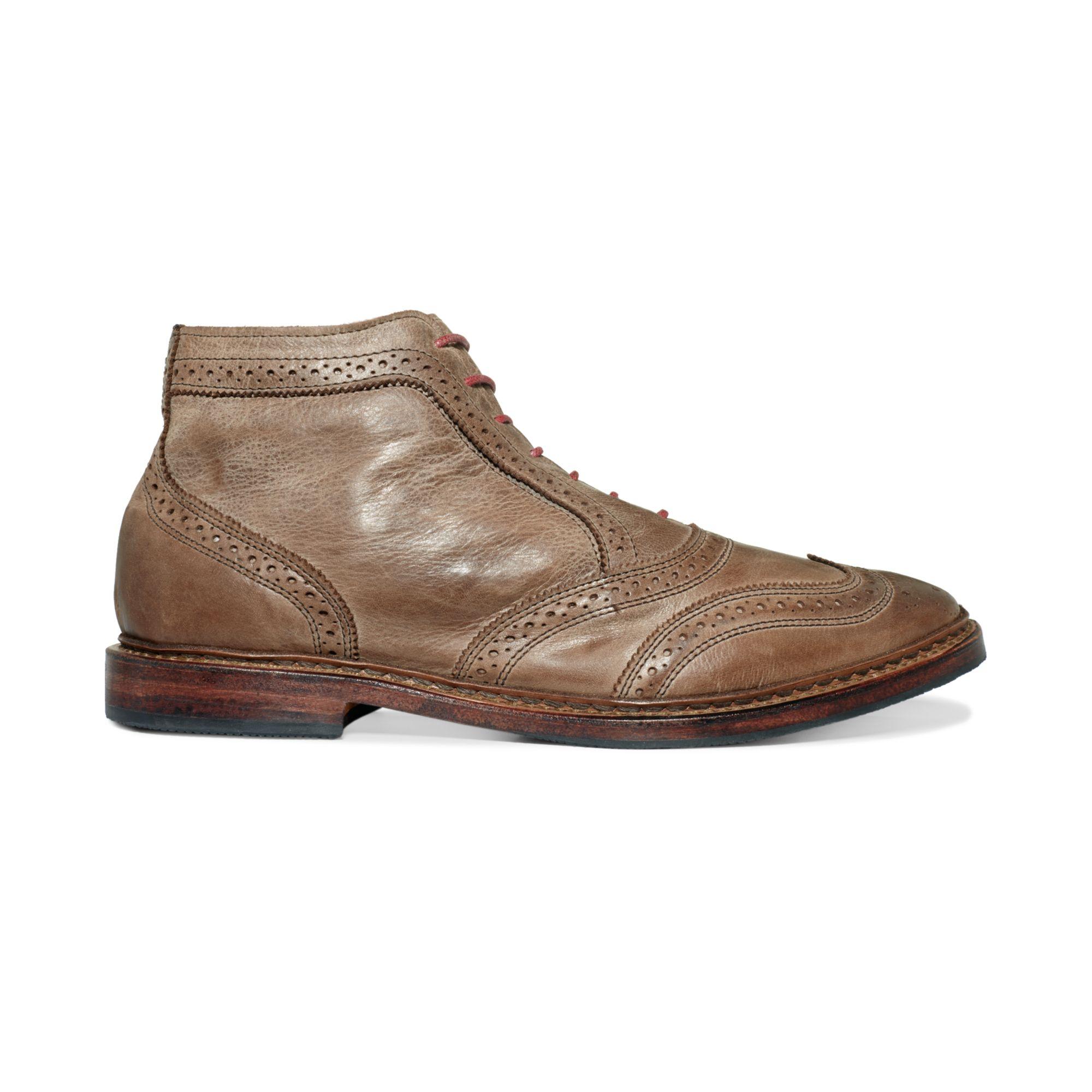 Allen Edmonds Cronmok Wingtip Boots In Beige For Men