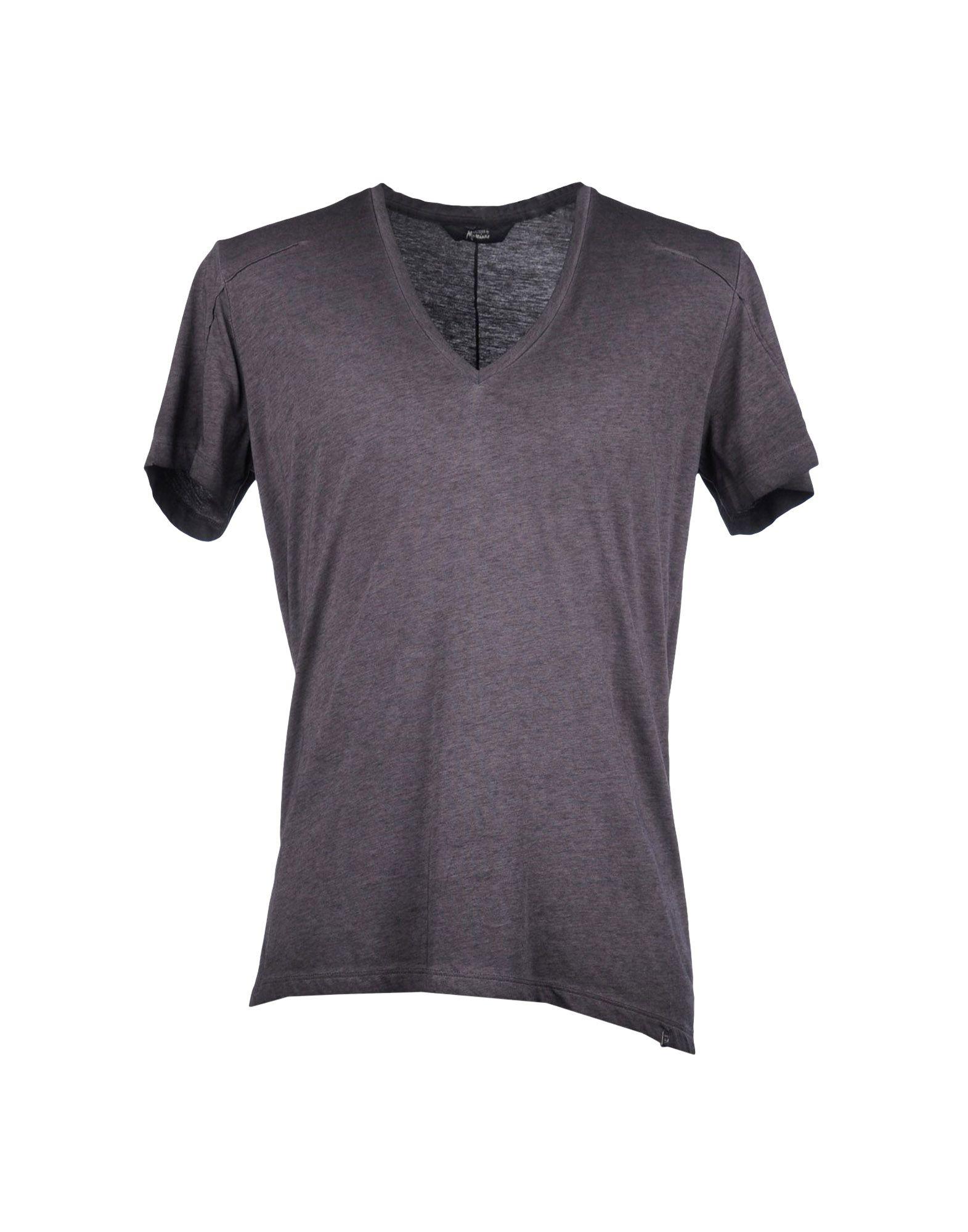 guess short sleeve t shirt in purple for men dark brown. Black Bedroom Furniture Sets. Home Design Ideas