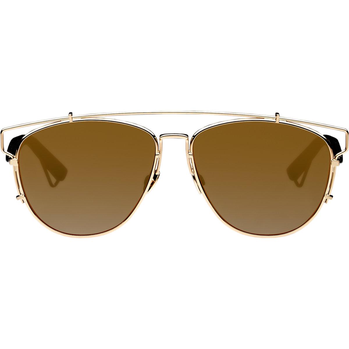 Dior Gold Frame Sunglasses : Dior Technologic Sunglasses in Metallic Lyst