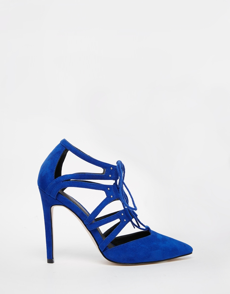ASOS Pacific Wide Fit Lace Up Heels in