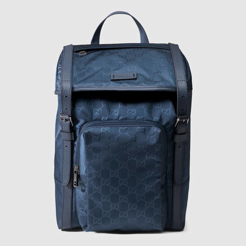 2c53622c9cf9 Lyst - Gucci Nylon Guccissima Light Backpack in Blue