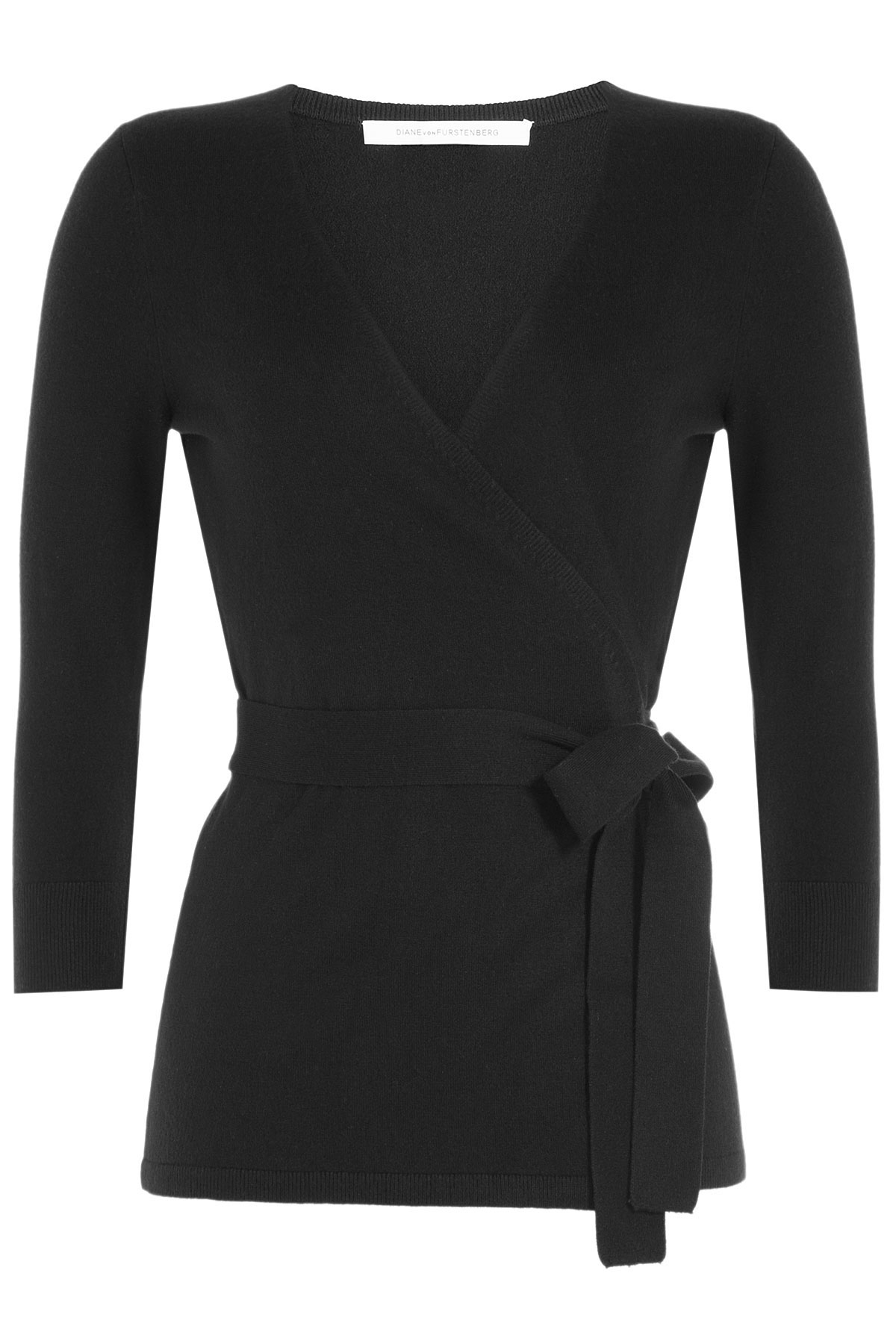 Diane von furstenberg Wrap Around Cardigan With Silk And Cashmere ...