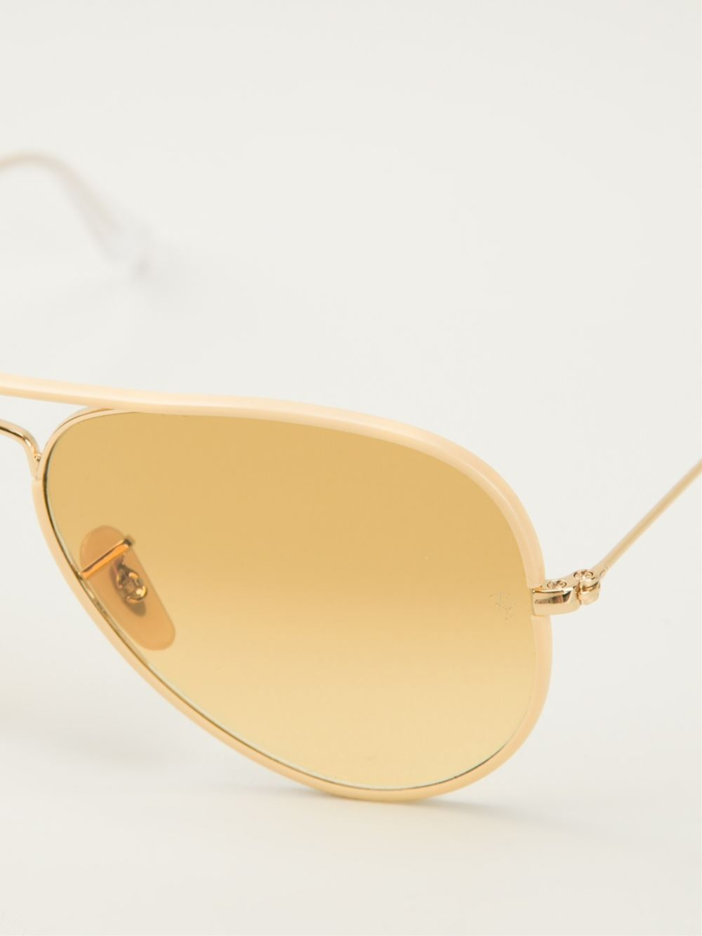ray ban aviator sunglasses yellow  gallery