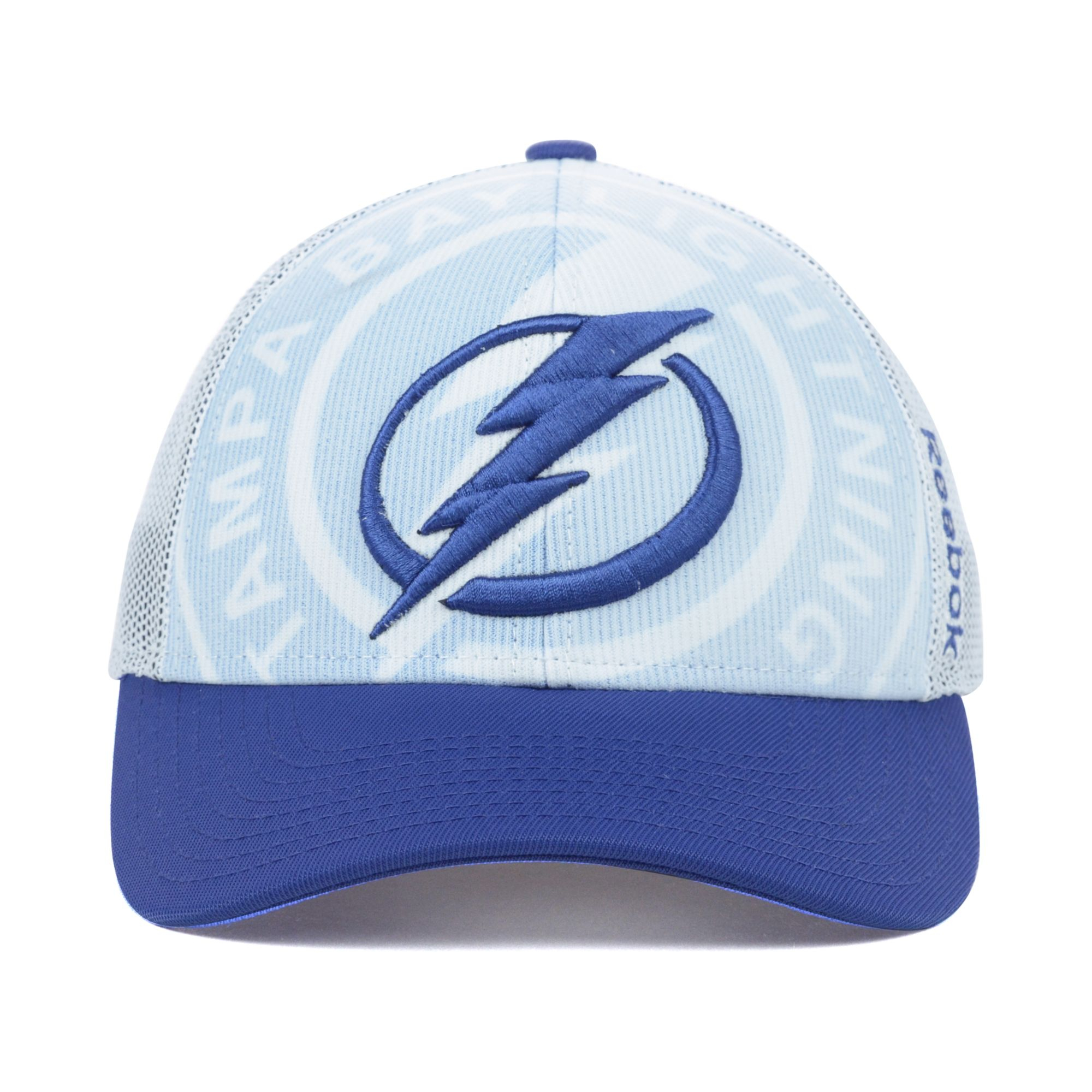 4fa0d8670c3 Lyst - Reebok Tampa Bay Lightning Nhl Draft Cap in Blue for Men