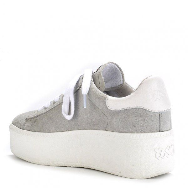 Ash Cult Leather Platform Trainers in Grey (Grey)