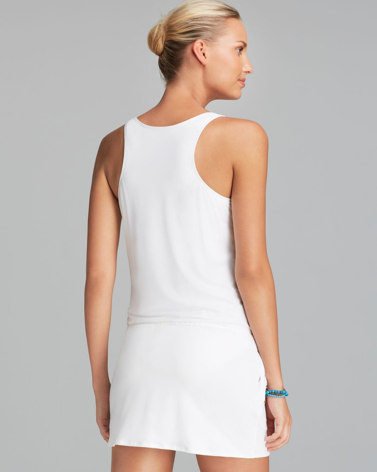 4923a5c5a MICHAEL Michael Kors Watch Band Tank Swim Cover Up Dress in White - Lyst