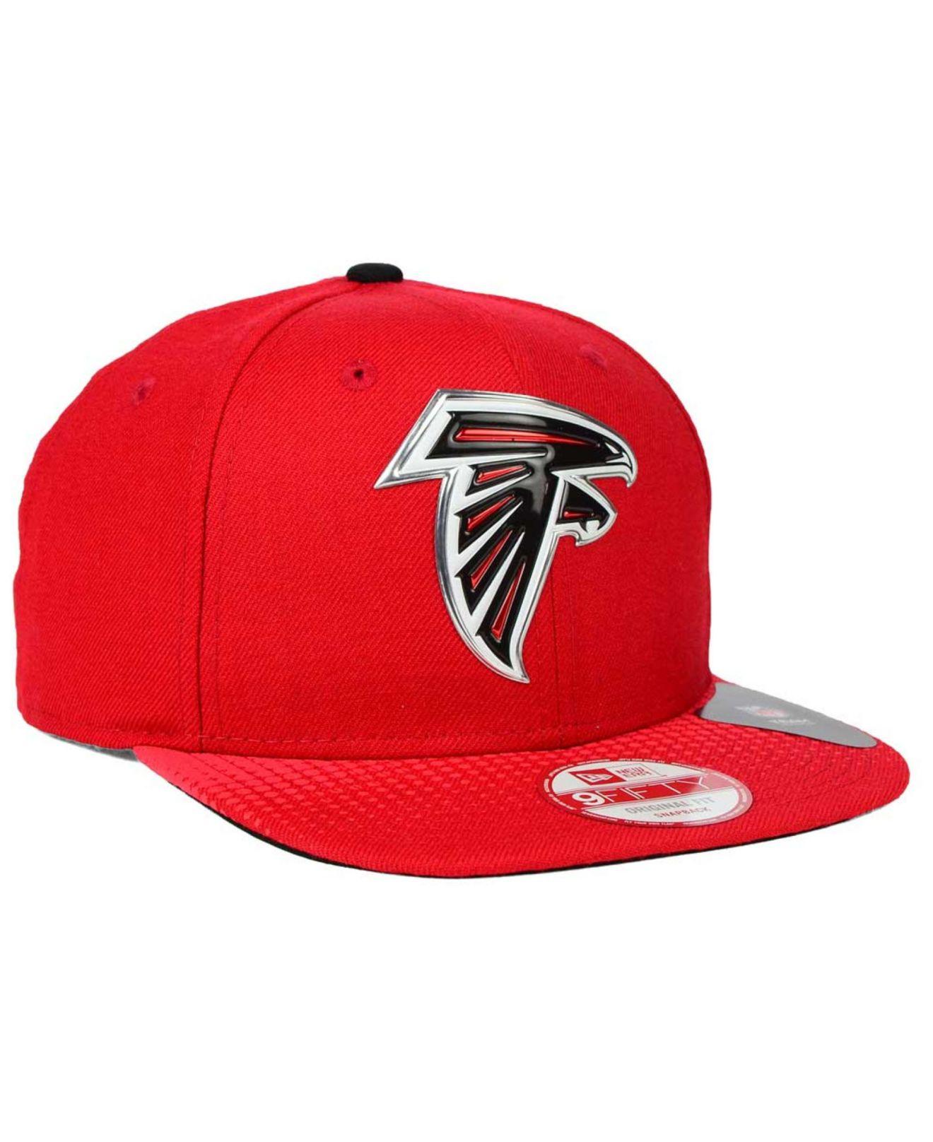 Lyst - KTZ Atlanta Falcons Draft Redux 9fifty Snapback Cap in Red ... a0cb908be55