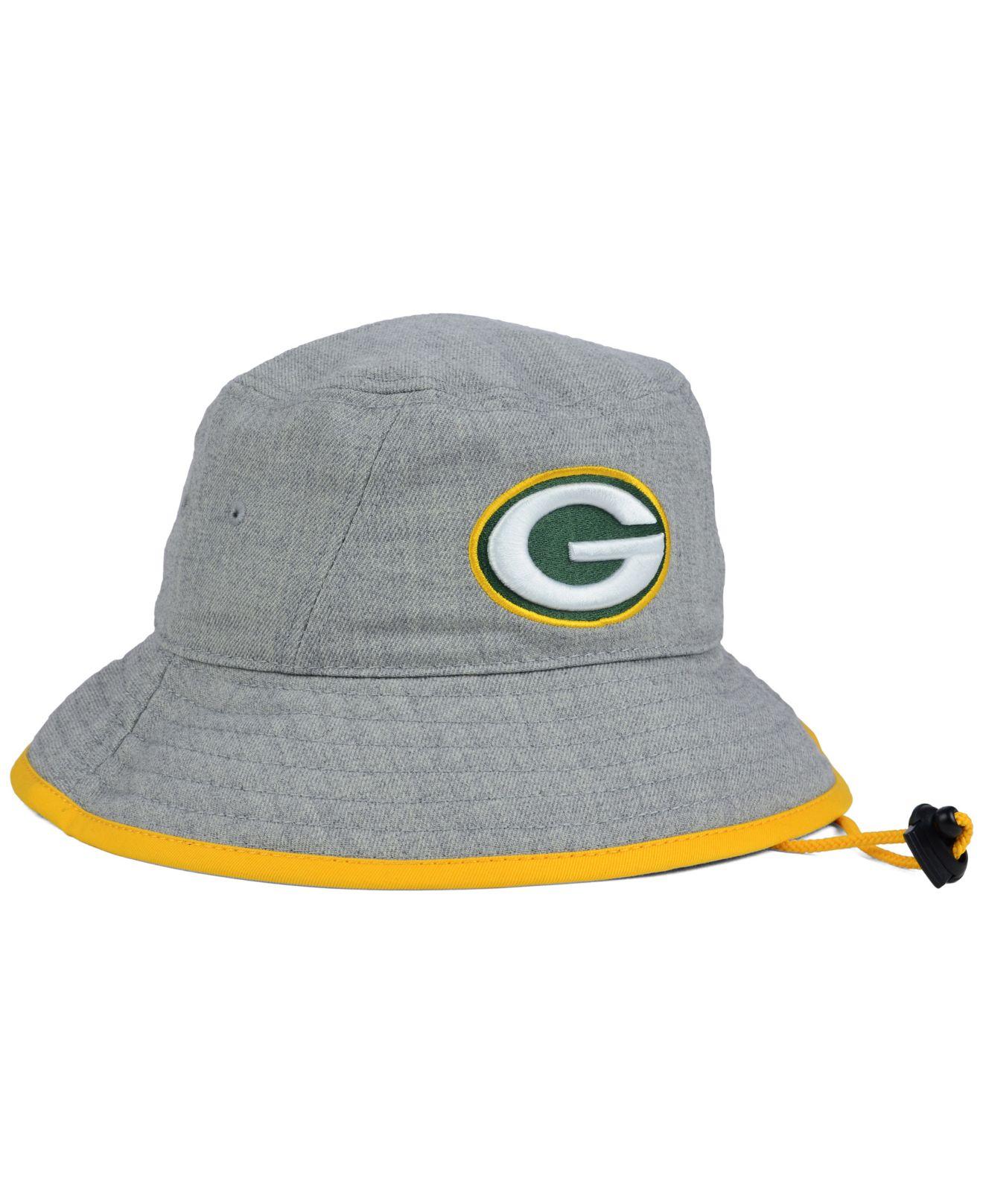 dde833841 KTZ Green Bay Packers Nfl Heather Gray Bucket Hat for men