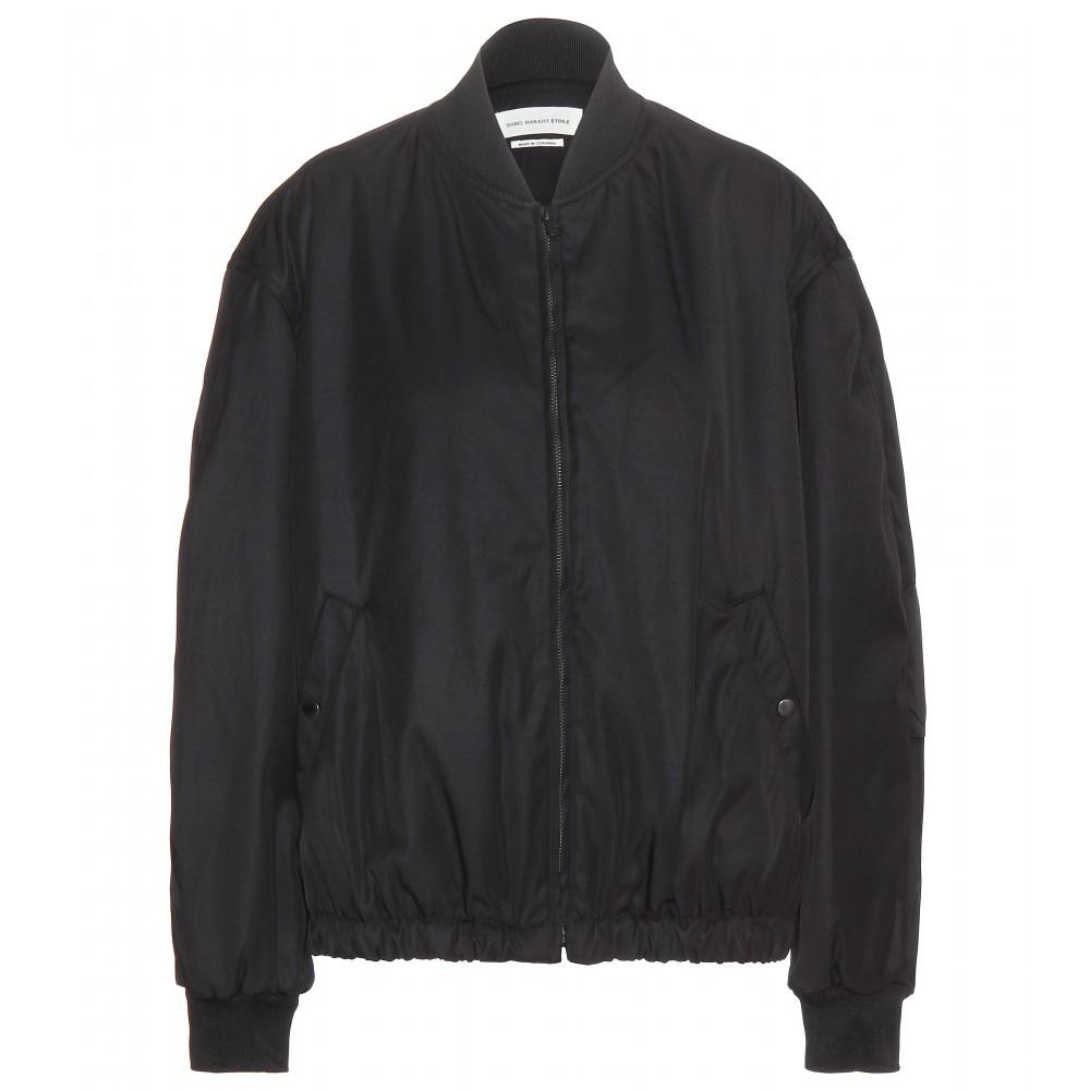 d947982c2 Étoile Isabel Marant Black Arone Bomber Jacket