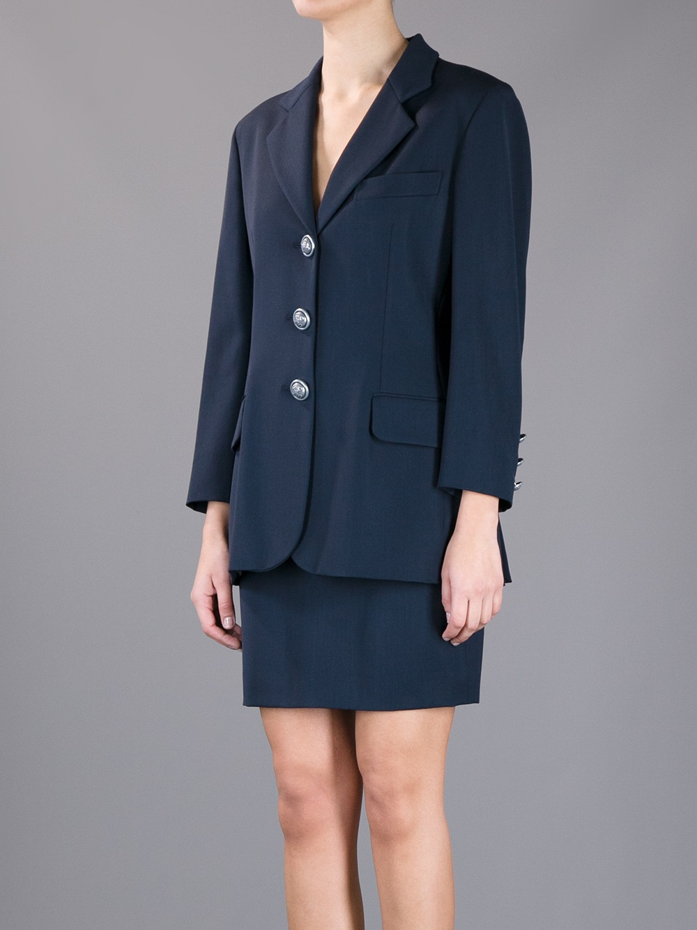 Lyst - Moschino Jacket And Skirt Suit Set in Black