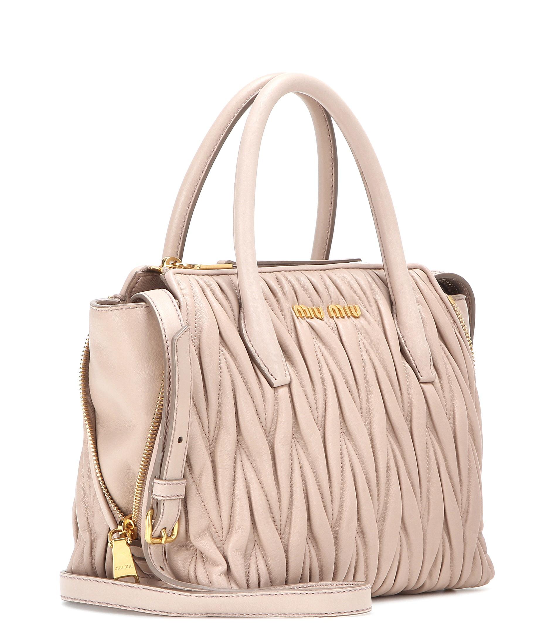 Miu Miu Large Leather Tote Bag