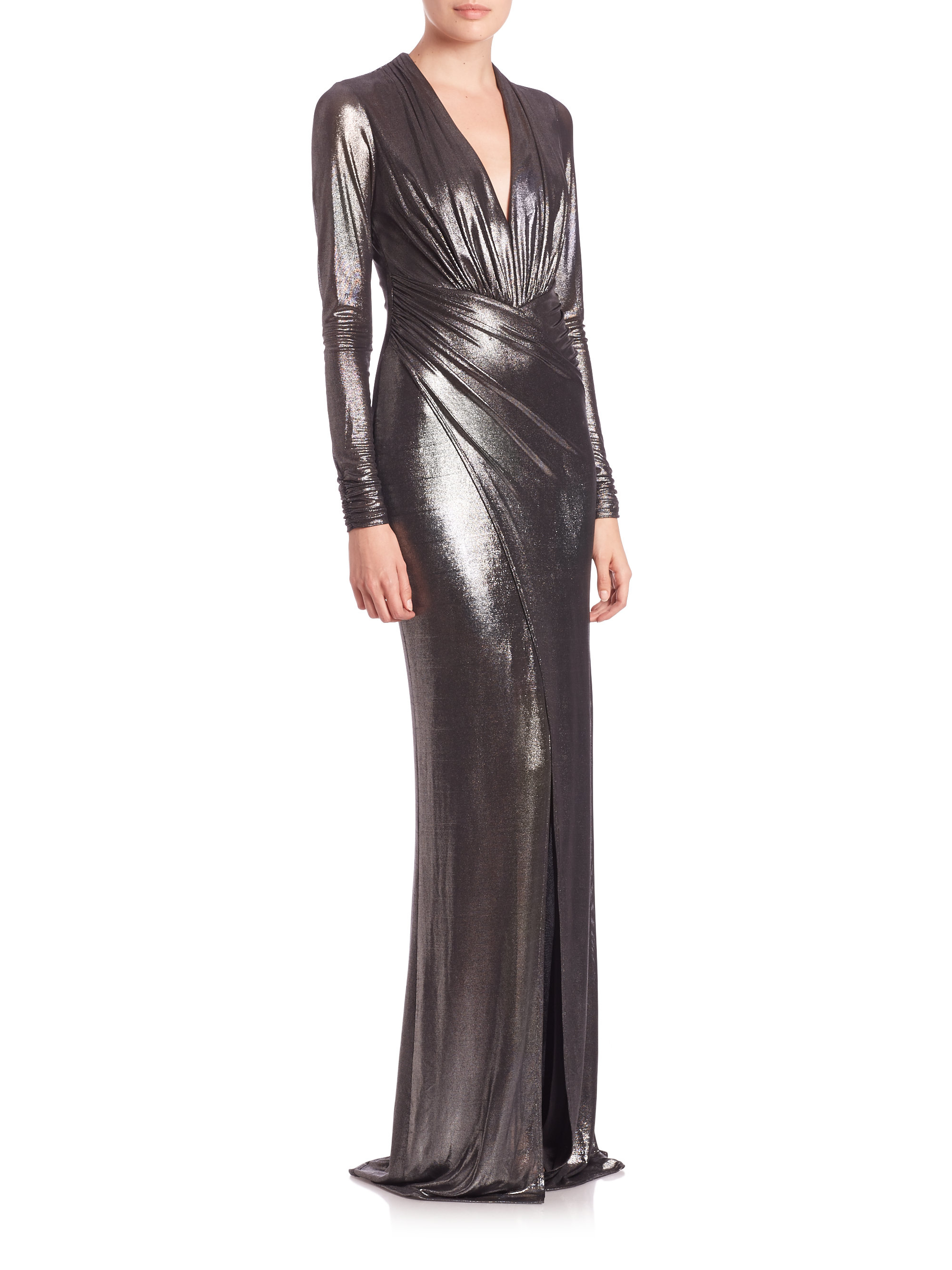David Meister Embellished Jersey Gown – fashion dresses