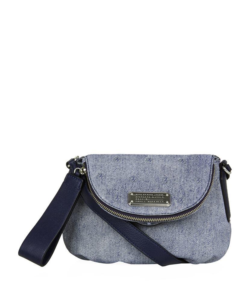 30fe457b7752 Marc By Marc Jacobs Mini New Q Stud Denim Natasha Bag in Blue - Lyst