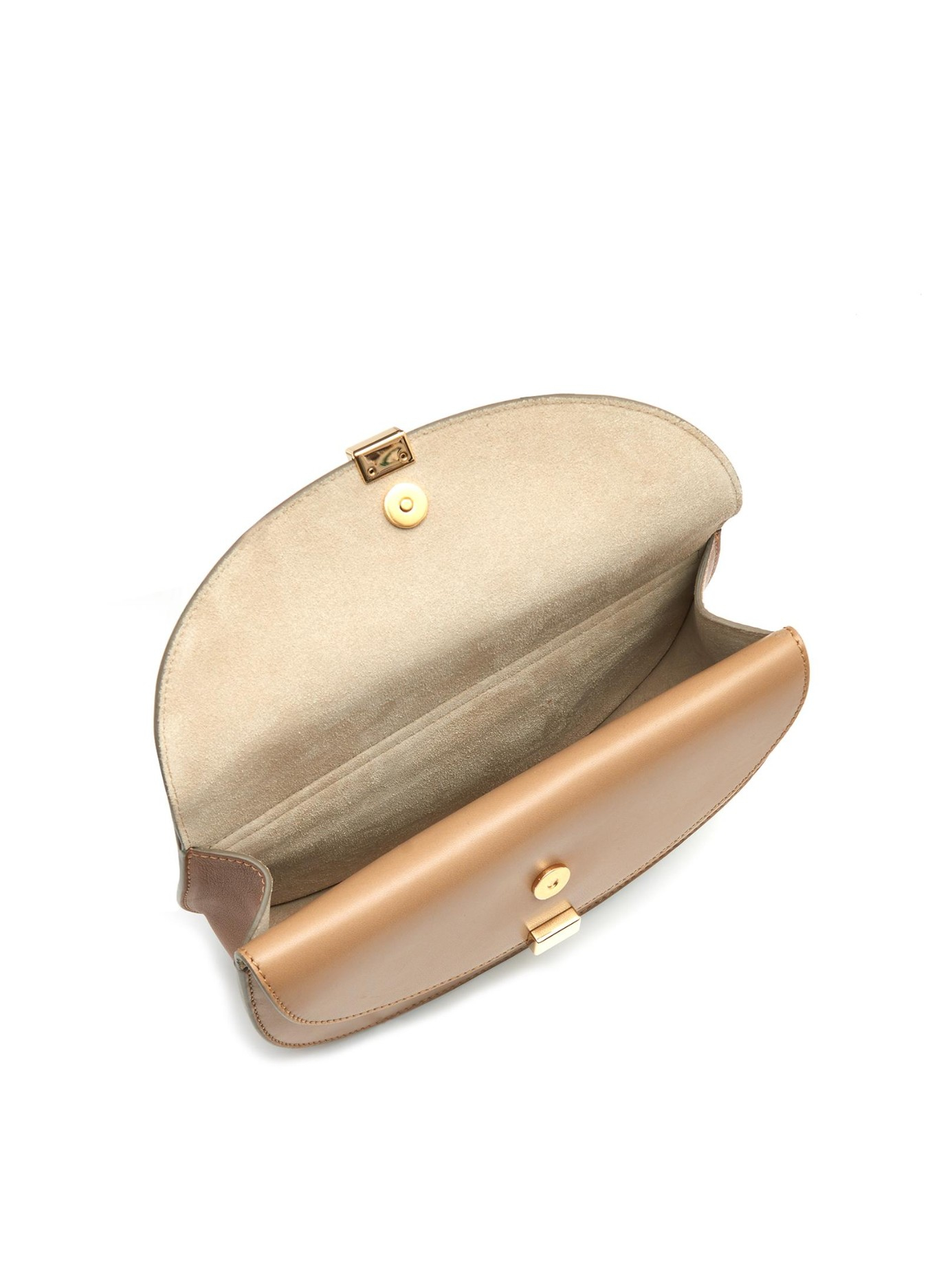 Chlo¨¦ Georgia Mini Leather Cross-Body Bag in Brown (DARK BEIGE) | Lyst