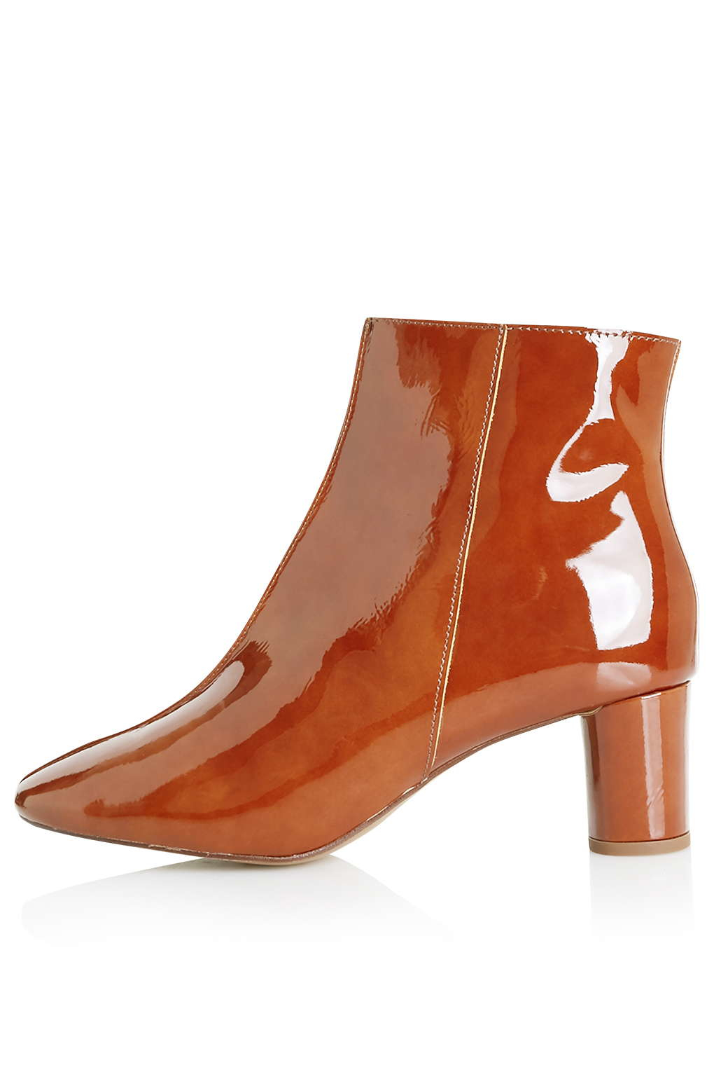 topshop aspen low ankle boots in brown lyst