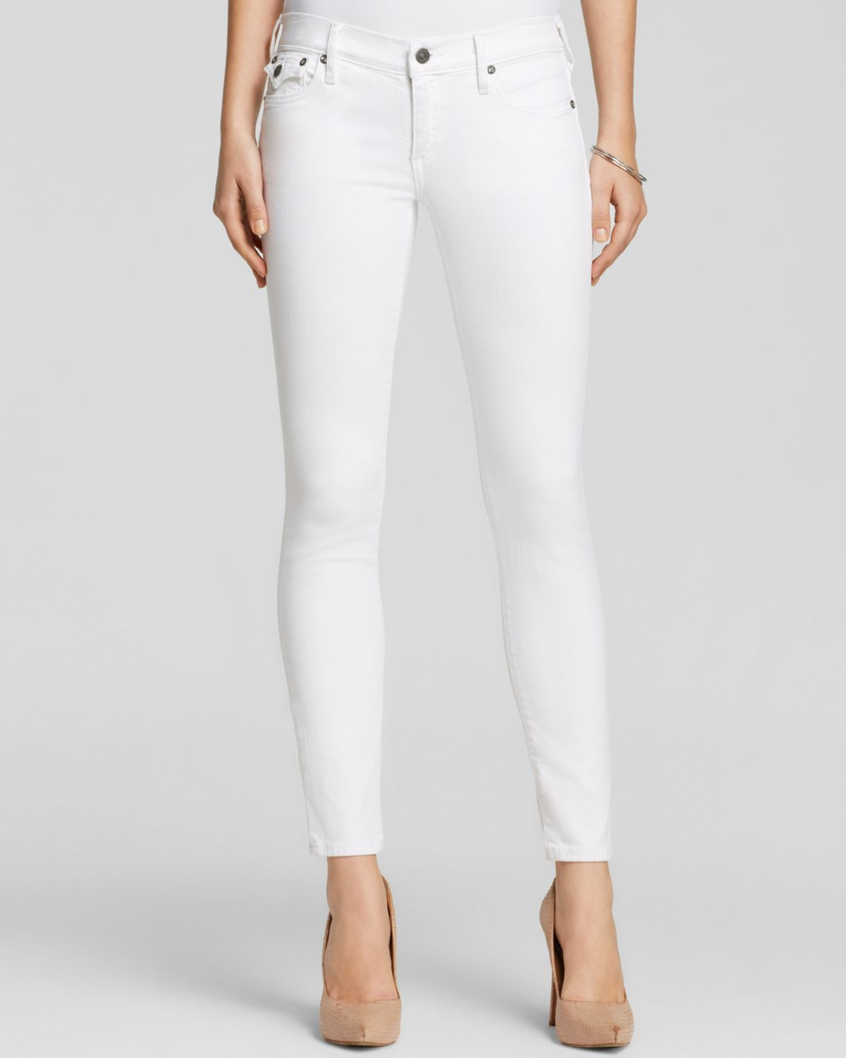 True religion Jeans - Casey Low Rise Super Skinny In Optic White ...
