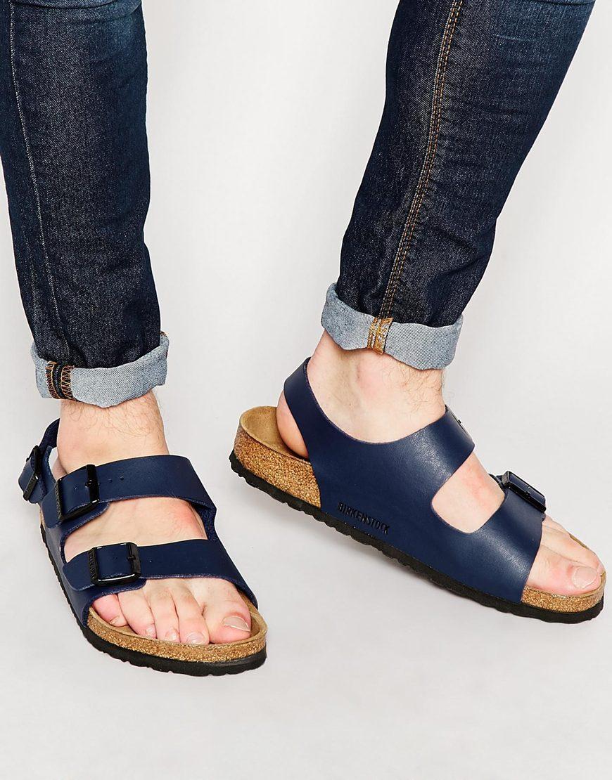 Birkenstock Milano Sandals In Blue Lyst