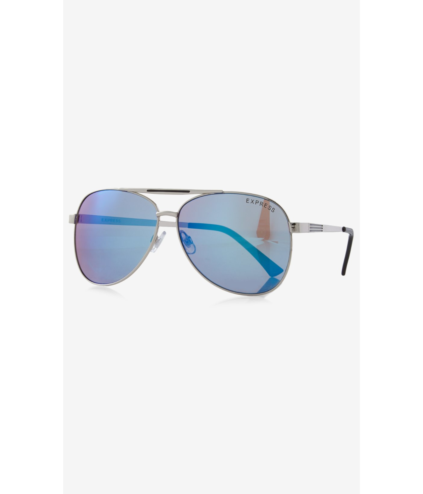 Express Sunglasses  express blue mirrored aviator sunglasses in blue for men lyst