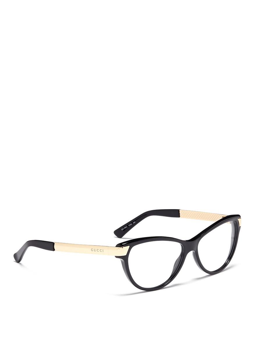 80436f0845 Gucci Cat-eye Optical Glasses in Pink - Lyst