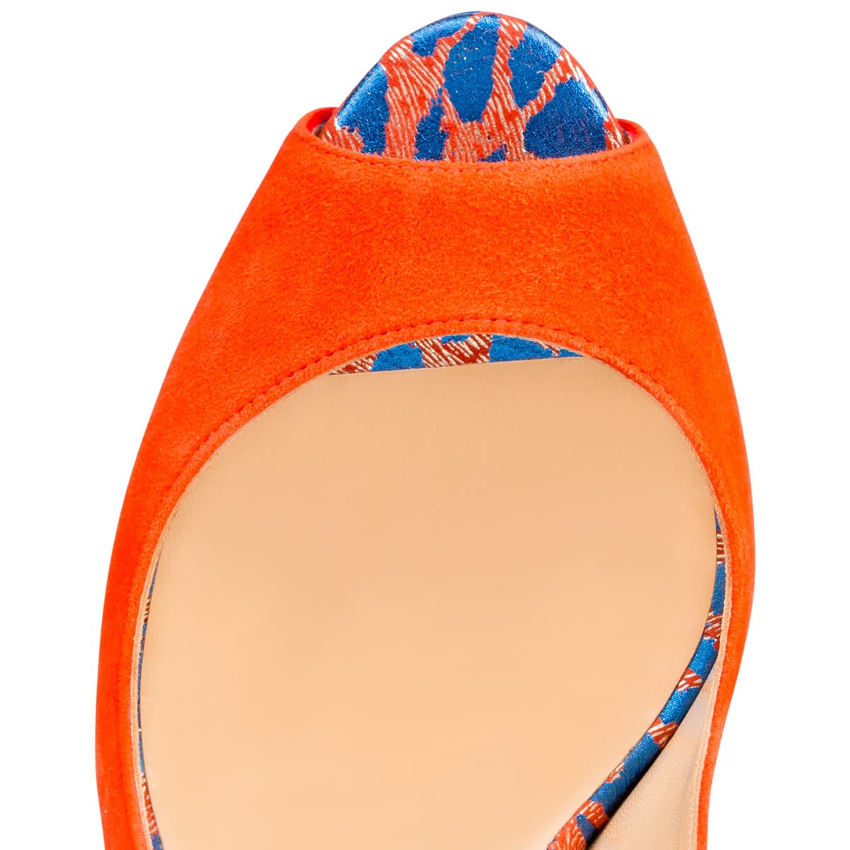 468dd5818d4 Artesur » christian louboutin lady peep sling Orange Blue Suede