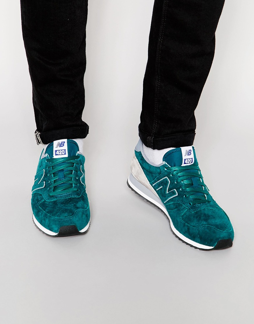 new balance 420 trainers in green