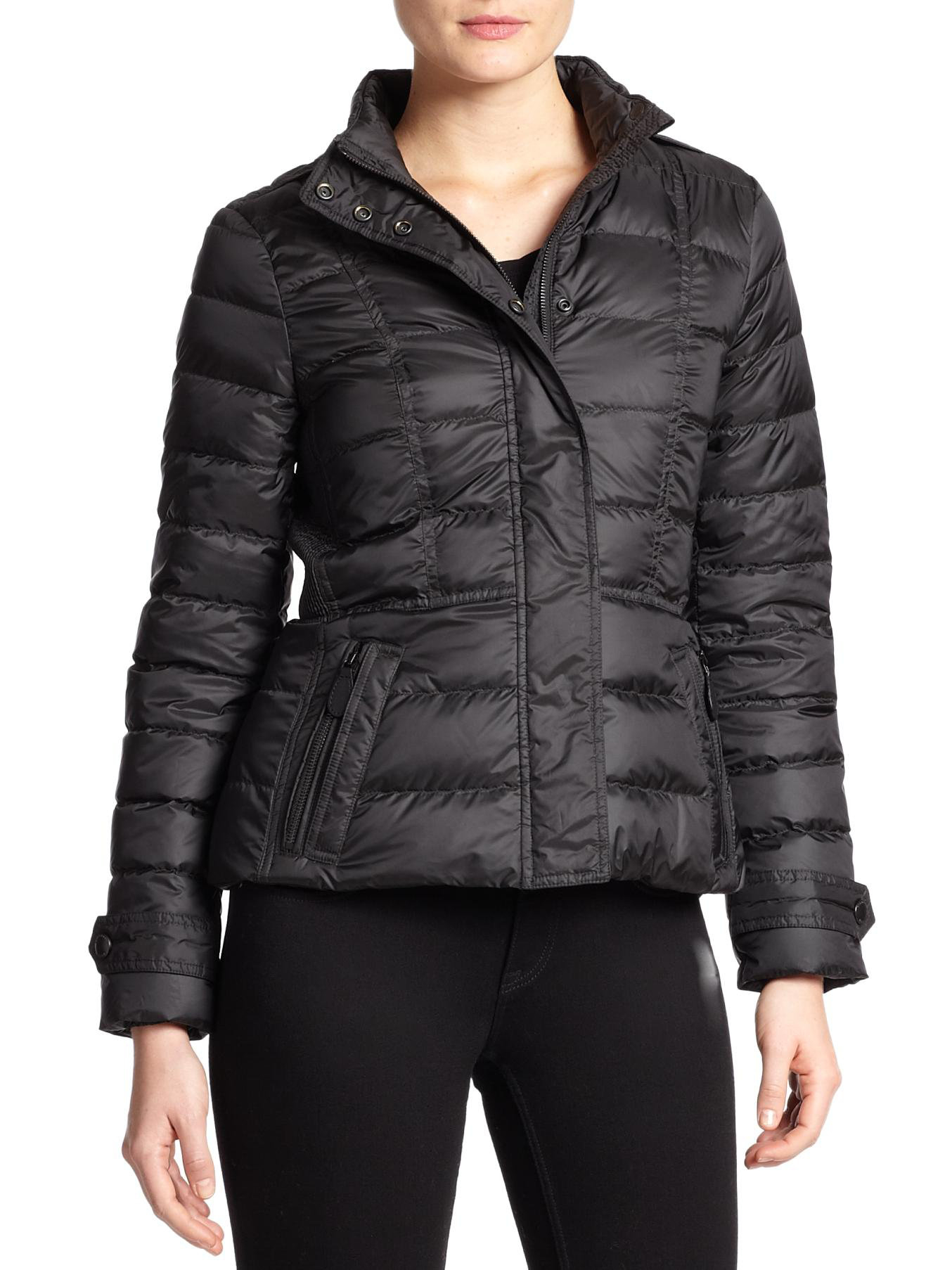 Burberry Brit Dalesbury Short Puffer Jacket In Black Lyst