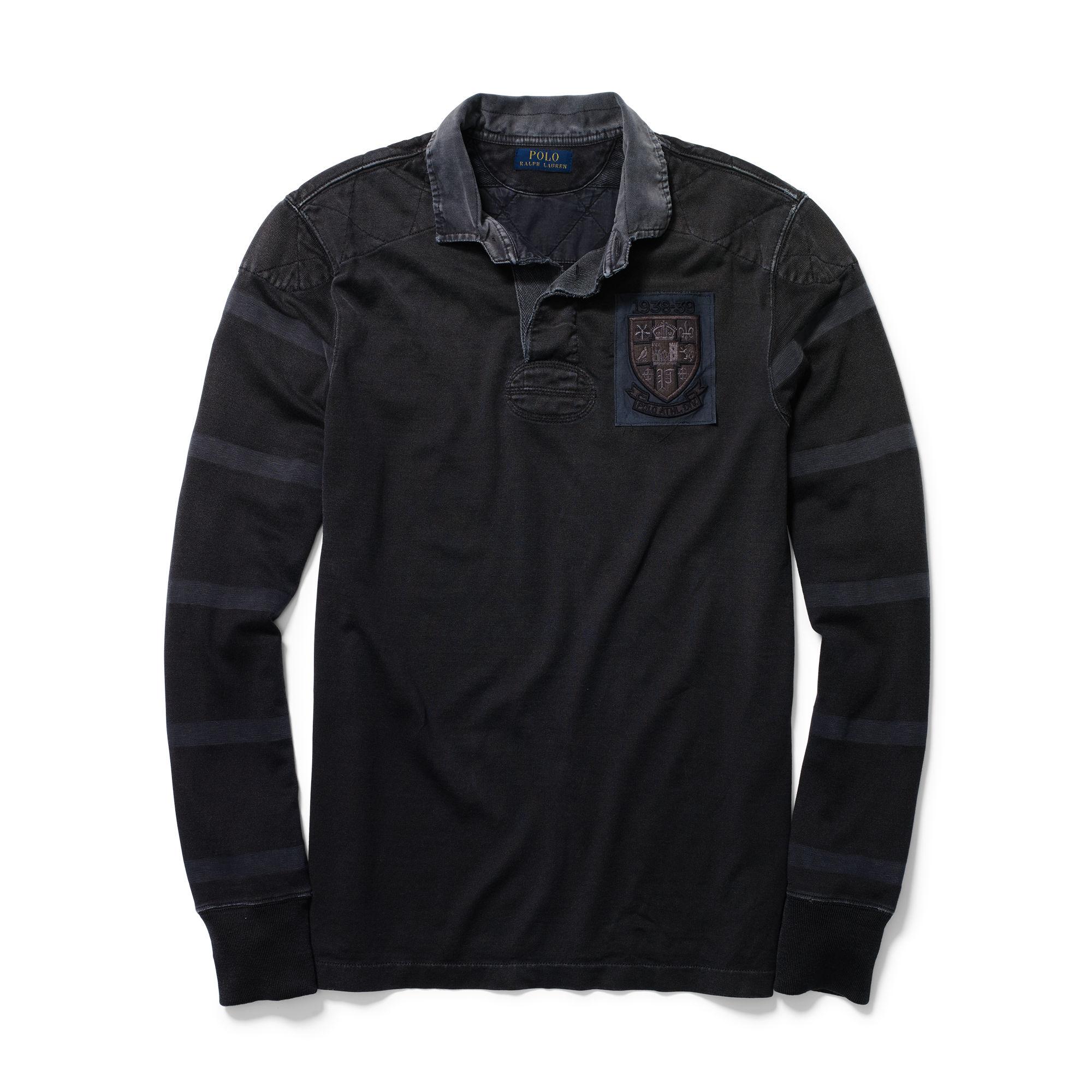 6d932bdb5 ... best polo ralph lauren cotton jersey rugby in black for men lyst 3c05d  17a6d