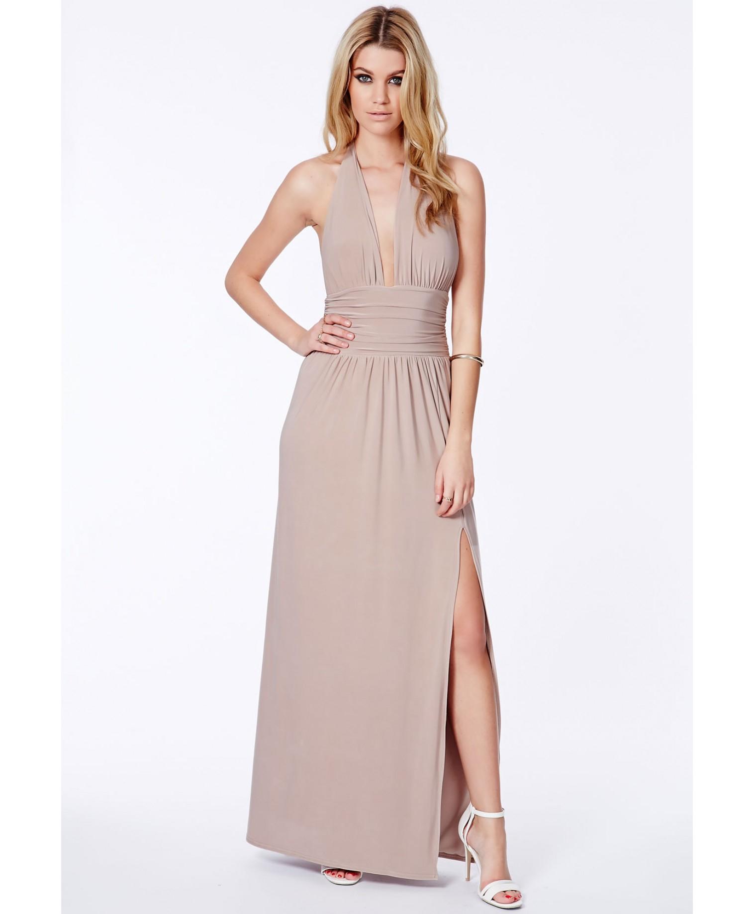 Taupe maxi dress