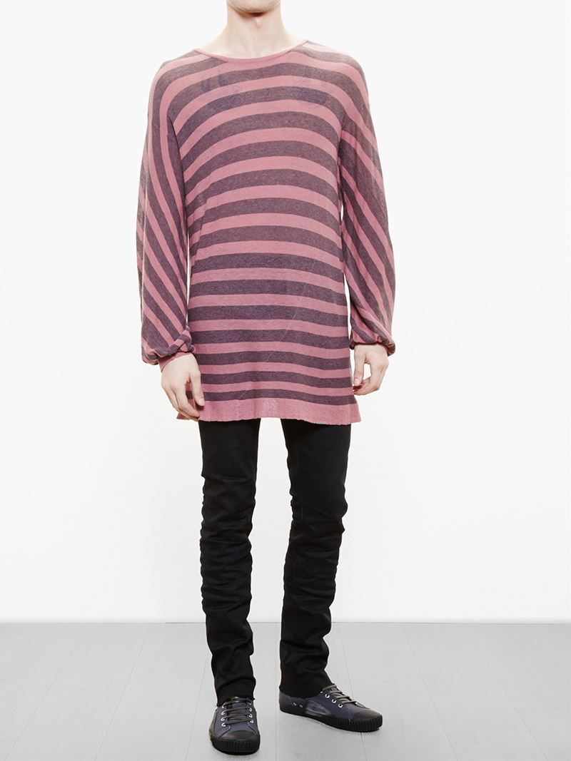 lyst haider ackermann striped oversized jersey knit. Black Bedroom Furniture Sets. Home Design Ideas