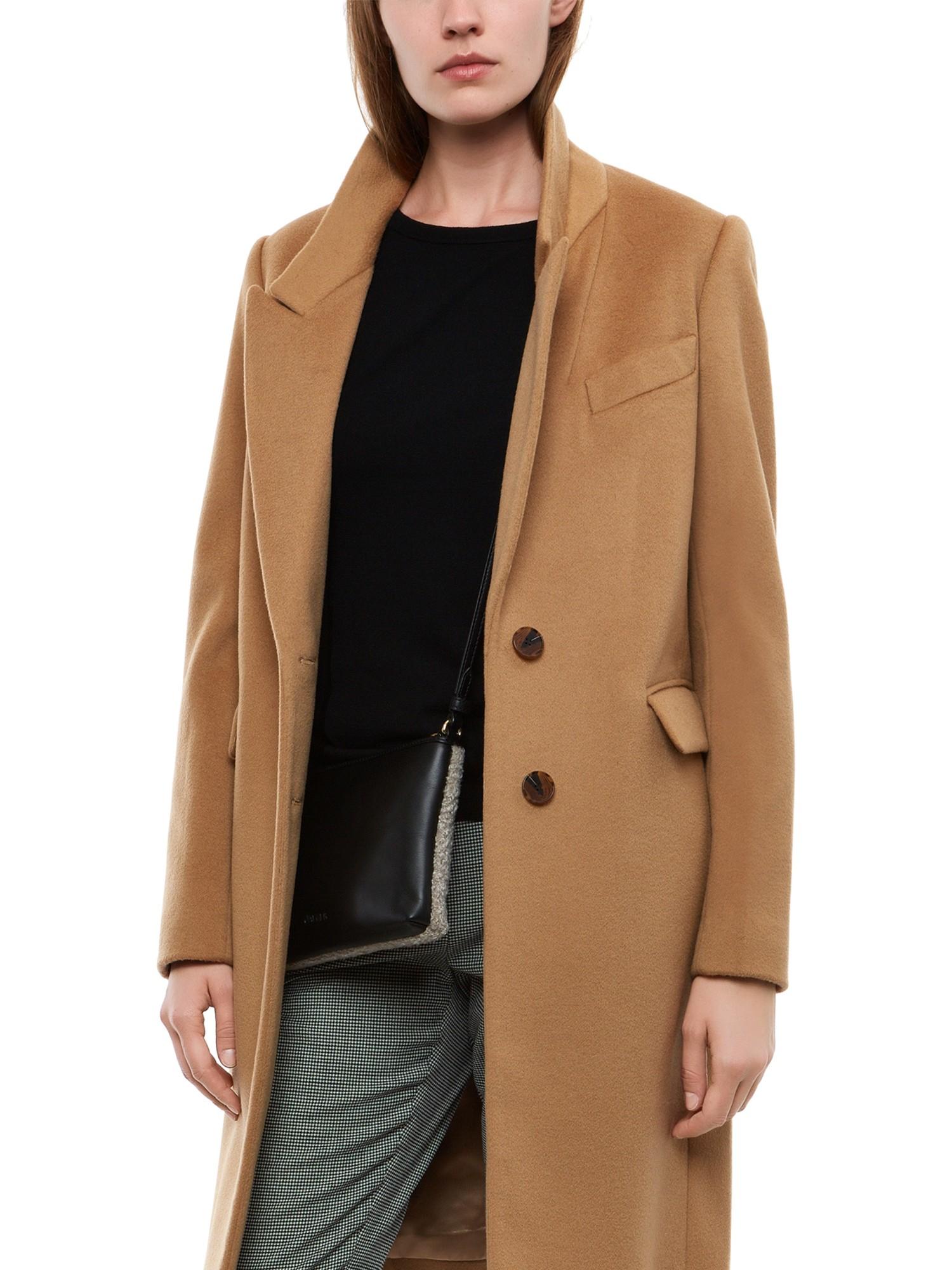 Jaeger Wool Cashmere Boyfriend Coat in Brown | Lyst