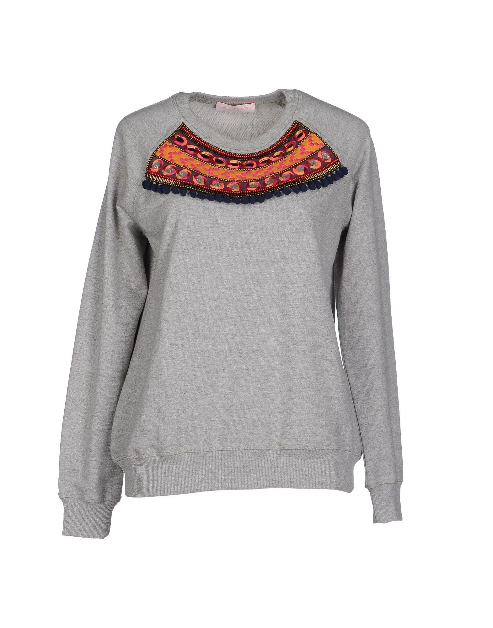 Matthew Williamson Sweatshirt In Gray Lyst
